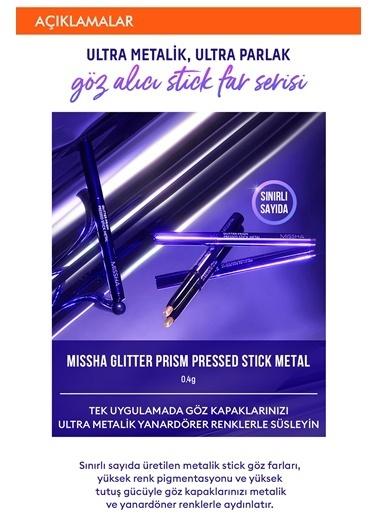 Missha Ultra Metalik & Ultra Parlak Yoğun Pigmentli Stick Far Mıssha Glittr Prism Pressed Stick Metl (No.3) Renksiz